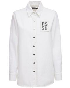 Cotton Denim Shirt W/ Logo Patch