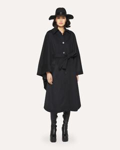 高腰羊毛混纺裤装