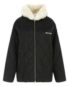 Fur-Trimmed Quilted Jacket