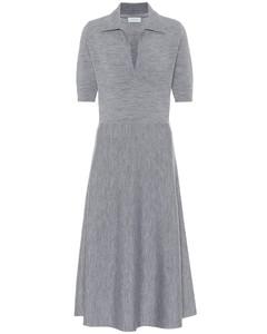 Bourgeois羊毛混纺中长连衣裙