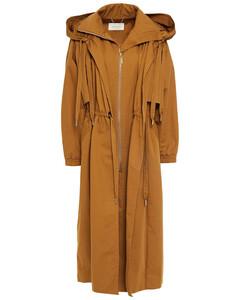 Woman Gathered Cotton-gabardine Hooded Coat