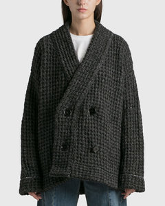 Black Asymmetric Knitted Dress