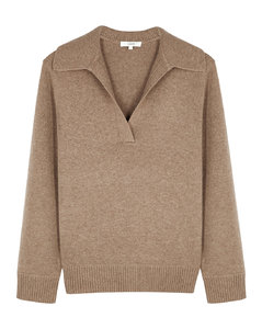 Brown wool and cashmere-blend jumper