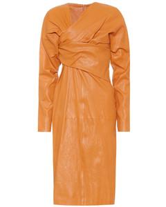 皮革連衣裙