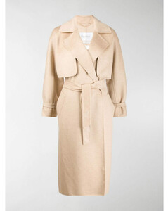 layered belted Agar coat