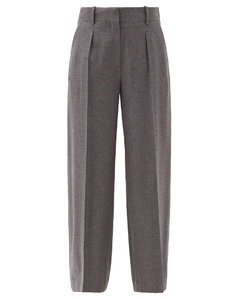 Philly cashmere wide-leg trousers