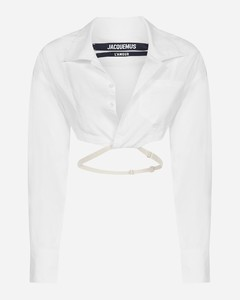 Laurier cotton cropped shirt
