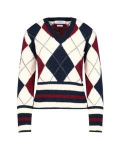 Argyle Pattern Knitted Jumper