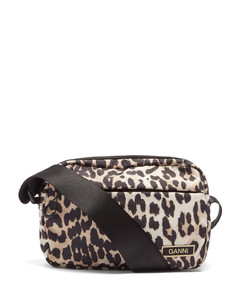 Leopard-print recycled-shell cross-body bag