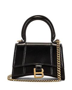 Nano Hourglass Bag in Black