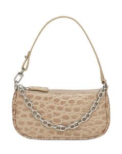 Mini Rachel Croc Embossed Leather Bag