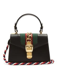Sylvie mini leather cross-body bag