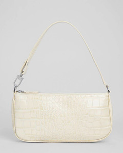 Women's Rachel Croco Embossed Leather Bag - Cream