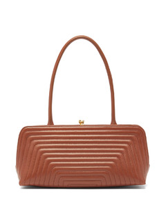 Quilted small leather shoulder bag