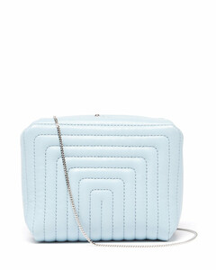 Quilted-leather clutch bag