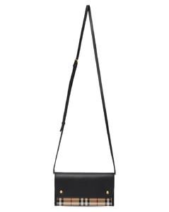 黑色&驼色小号Vintage Check手机包