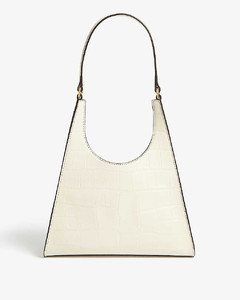 Rey small croc-embossed leather bag