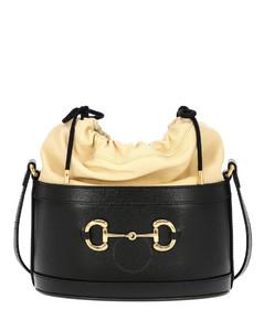 1955 Horsebit Shoulder Bag In Black Leather