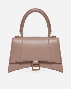 Hourglass S leather bag