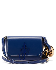 Anchor nano chain-strap leather cross-body bag