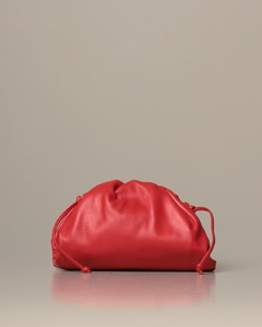 The mini pouch clutch in leather