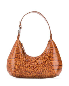 crocodile-effect shoulder bag