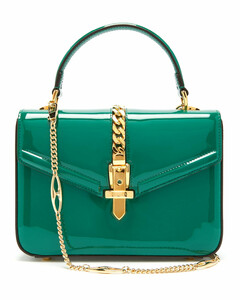 Sylvie small patent-leather shoulder bag