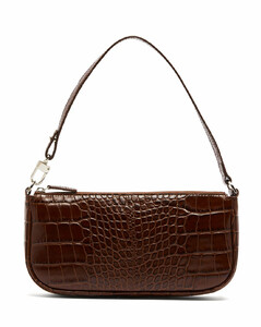 Rachel crocodile-effect leather shoulder bag