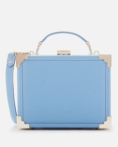 Women's Trunk Clutch Bag - Bluebird Carrera