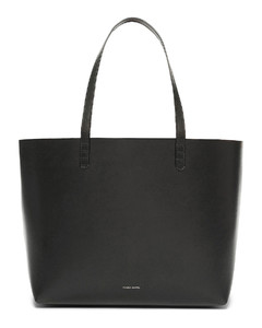 Coated Large Tote in Black