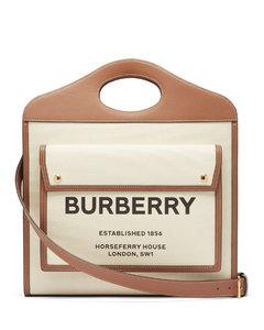 Pocket medium Horseferry logo-print canvas handbag