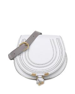 Retro brown crocodile-effect leather top handle bag