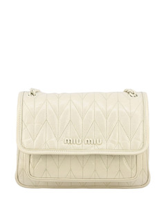 bag in shiny and quilted leather
