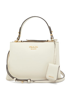 Deux leather handbag