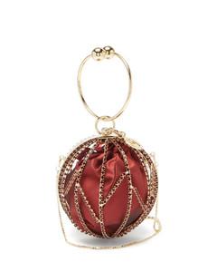 Alice mini crystal and satin clutch bag