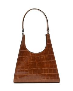 Rey crocodile-effect leather handbag