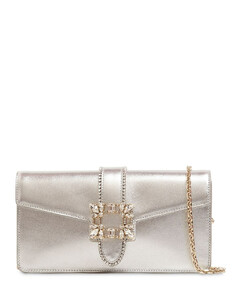 Tres Vivier Embellished Leather Clutch