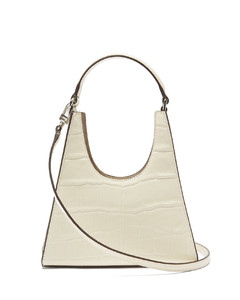 Rey mini crocodile-effect leather handbag