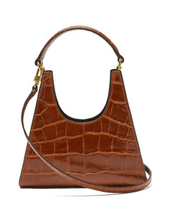 Rey mini crocodile-effect leather handbag