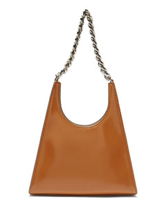 Rey chain-strap polished-leather handbag