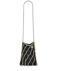 Greta Shoulder Bag W/ Crystal Strap