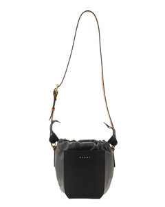 Gusset Shoulder Bag In Calf And Nappa