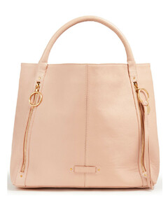Hana Mini Bag in Cement Beige Leather