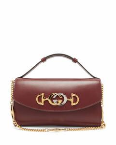 Zumi mini logo-plaque leather cross-body bag