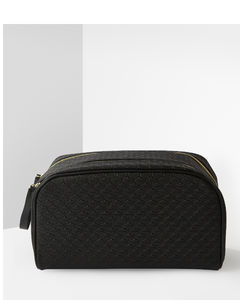 Black Double Zip Bag