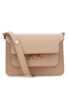 Cappuccino leather mini Trunk shoulder bag