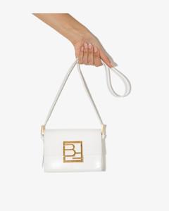 White Fran Semi Patent Leather Shoulder Bag