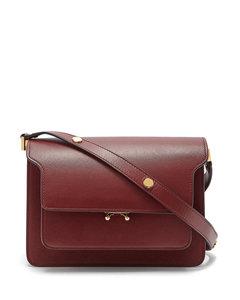 Trunk medium saffiano leather bag