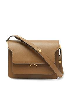 Trunk medium saffiano-leather shoulder bag