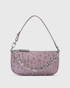 Mini Rachel Lilac Croco Embossed Leather Bag